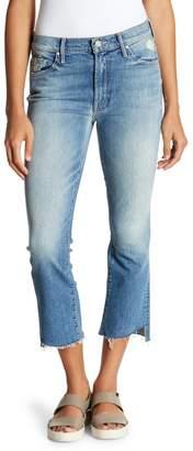 Mother The Insider High Waist Crop Step Fray Hem Bootcut Jeans