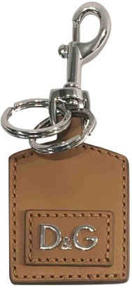 Dolce & Gabbana Brown Leather Bag charms