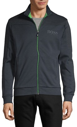 HUGO BOSS Logo Zip-Up Sweatshirt