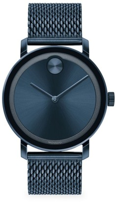 Movado Bold Evolution Blue Ion-Plated Stainless Steel & Mesh-Strap Watch