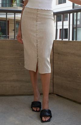 Reformation Fredo Front Button Skirt
