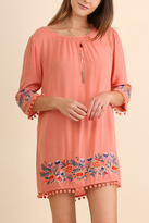 Umgee USA Floral Embroidered Dress