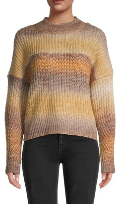 RD Style Long-Sleeve Rib-Knit Sweater
