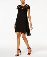 SL Fashions Beaded Lace-Yoke Shift Dress
