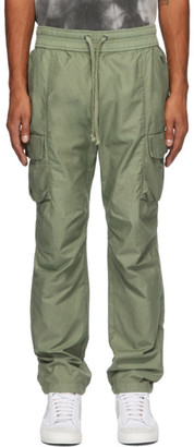 John Elliott Green Sateen Cargo Pants