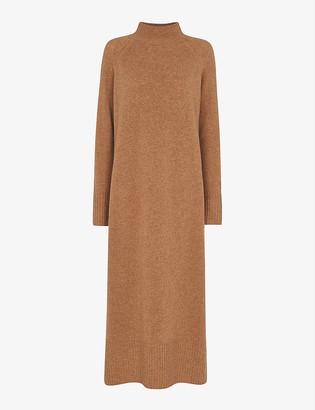 Whistles Funnel-neck wool midi dress