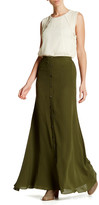 Haute Hippie Silk Button Front Maxi Skirt
