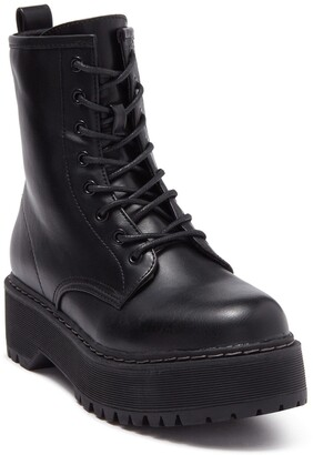 Steve Madden Basille Lace-Up Platform Boot