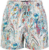 Etro abstract patterned swim shorts