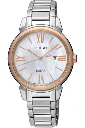 Seiko Ladies Dress Solar Solar Powered Watch SUT326P1