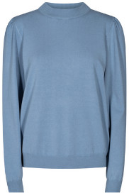 Nümph Nubaojin Light Blue Pullover - XS | viscose | blue - Blue/Blue