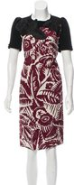 Marc Jacobs Embroidered Knee-Length Dress