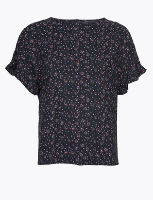Marks and Spencer Printed Woven Blouse
