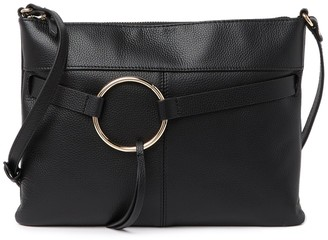 Melrose and Market Pebbled Leather Tassel Ring Crossbody Bag