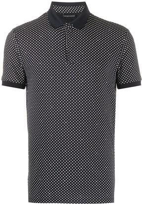 Emporio Armani Polka Dot Print Polo Shirt