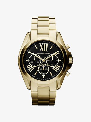 Michael Kors Oversized Bradshaw Gold-Tone Watch