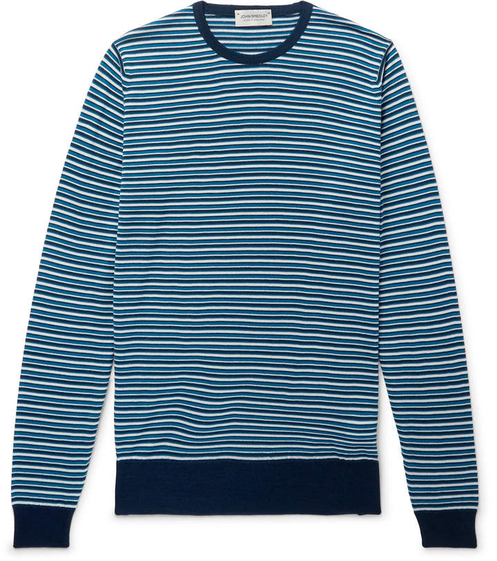 John Smedley Striped Wool Sweater