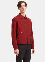 Lanvin Men's Zipped Ricky Jacket In Burgundy