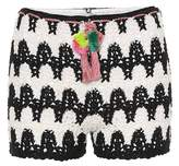 Anna Kosturova Zebra crocheted cotton shorts