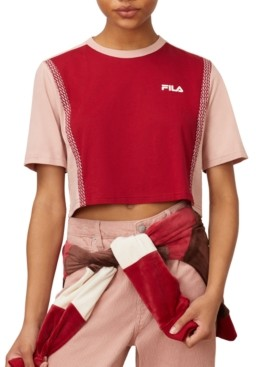 Fila Molly Cotton Colorblocked Cropped T-Shirt