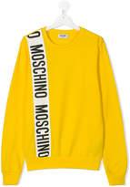 Moschino Kids logo print sweater