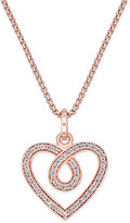Thomas Sabo Glam & Soul White Zirconia Heart Pendant Necklace in 18k Rose Gold-Plated Sterling Silver
