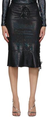 Saks Potts Black Shimmer Poison Skirt