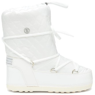 Bogner Tignes Quilted Lace-up Snow Boots - Womens - White