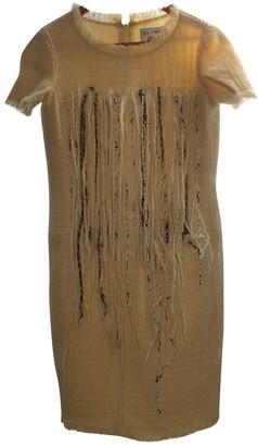 Chanel Ecru Wool Dresses