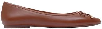 Radley Flower Tan Flat Shoe