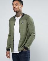 Nike Av15 Jersey Bomber Jacket In Green 837008-387