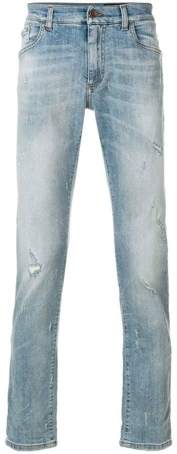 Dolce & Gabbana slim fit distressed detailed jeans