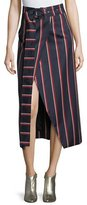 SOLACE London Apolline Striped Midi Wrap Skit
