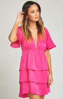 MUMU Dulce Dress ~ Flirty Fuchsia Sheen