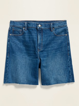 Old Navy High-Waisted Relaxed Cut-Off Jean Shorts for Women -- 7-inch inseam