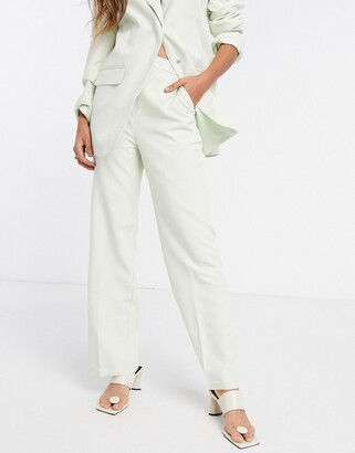 ASOS DESIGN dad slide suit pants in mint