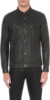 John Varvatos Popper-fastened Waxed Linen Jacket