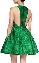 Alice + Olivia Tevin Full-Skirt Jacquard Dress