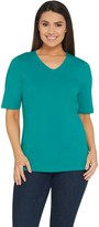 Denim & Co. Essentials Knit Top with Forward Seam Detail
