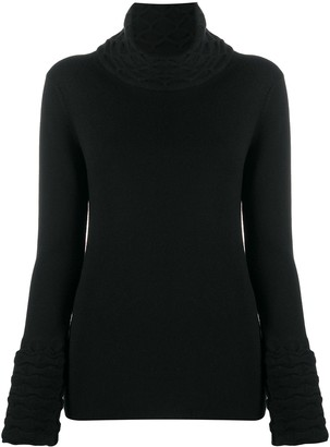 Temperley London Honeycomb Knit Rollneck Jumper