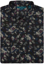 Perry Ellis Exclusive Multicolor Camo Print Shirt