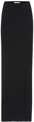 The Row Sol pleated crepe maxi skirt