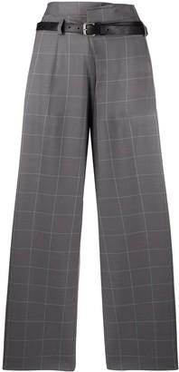 Tela Grid-Print High-Waisted Trousers