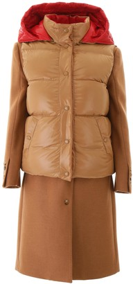 Burberry COAT WITH REMOVABLE VEST 6 Beige, Red Wool