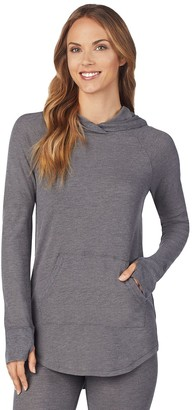 Cuddl Duds Women's Stretch Thermal Long Sleeve Hooded Tunic