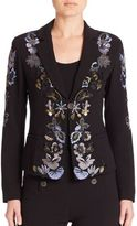 Nanette Lepore Embroidered Cropped Jacket