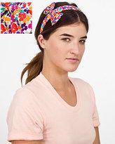 Vintage Print Fabric Bow Headband