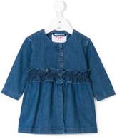 Il Gufo ruffle waist dress