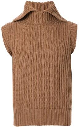 Cerruti Ribbed Knit Tank Top