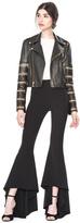 Alice + Olivia Cody Embellished Leather Cropped Jacket
